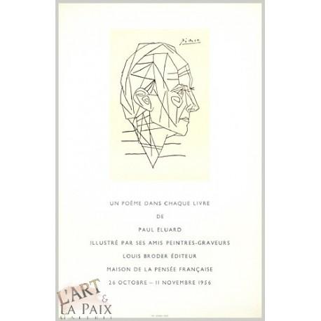 Affiche d'exposition Paul Eluard (1956)